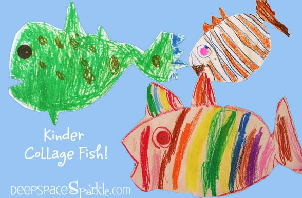 Collage-fish-art-project