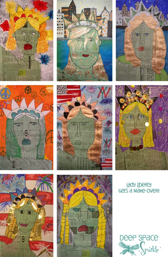Final result of Lady Liberty collage