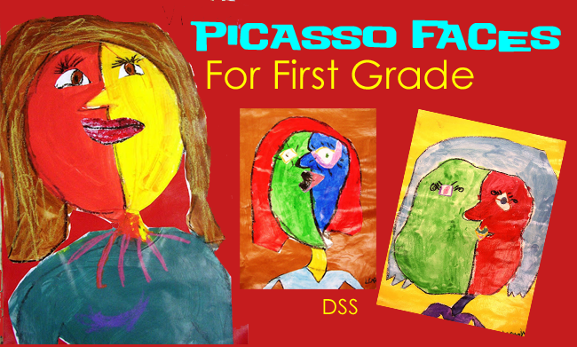 Picasso Faces for first grade from DSS