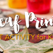 Fall Leaves Print-Making Activity & Video