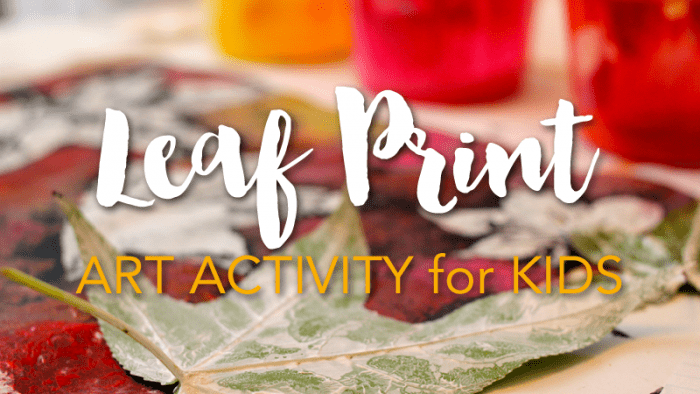 Fall Leaf Print Activity for Kids