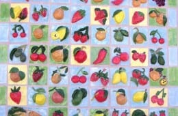 California Fruit Inspired Ceramic Mural