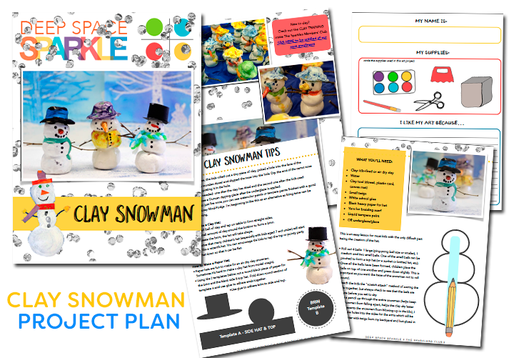 Download a Ceramic Snowman Art Project