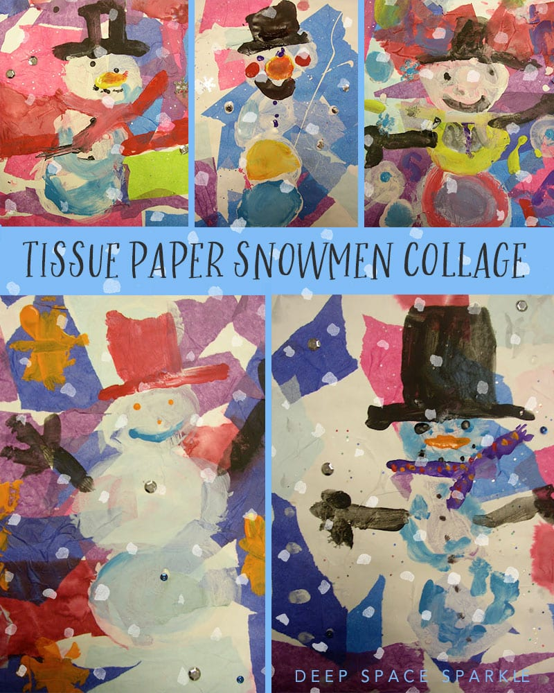 EASY kindergarten snowman project