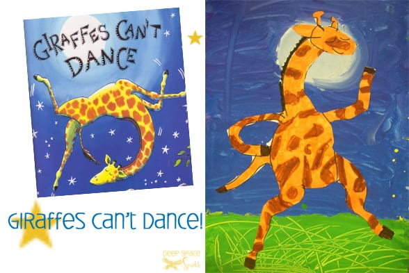 Giraffe's Can't Dance Art project for Kids