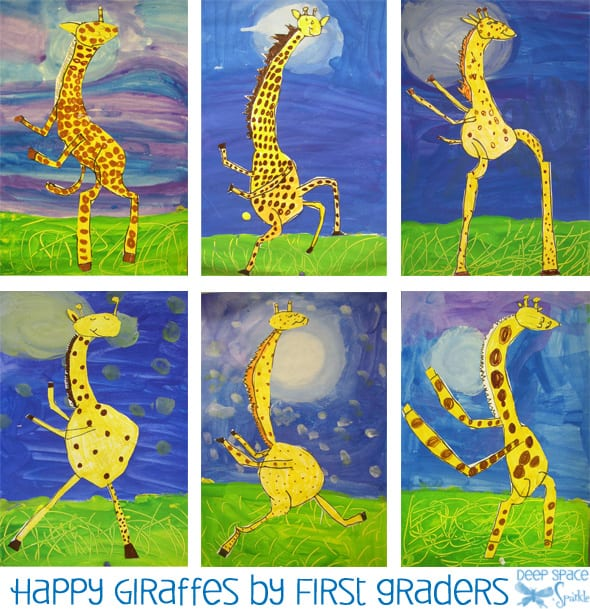 Giraffes Cant Dance Art Lesson Deep Space Sparkle