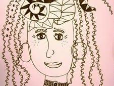 Wild and Wacky Hair Line Drawings
