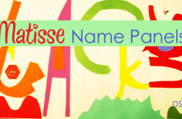 Matisse Inspired Name Panels
