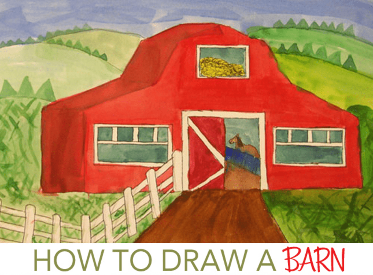 Drawing Barns And Rural Settings