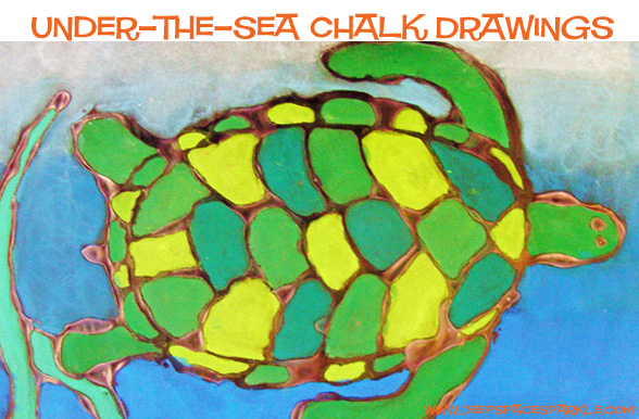turtle black glue resist art the sea chalk and glue drawings space sparkle 7269