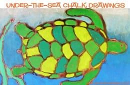 Under-the-Sea Chalk and Glue Drawings