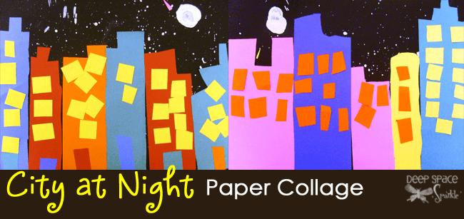 City-at-Night-art-lesson