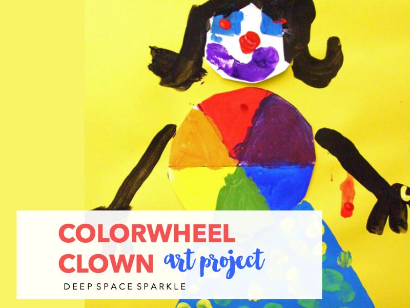 Colorwheel Clown Art Project