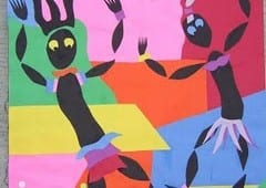 "Matisse Inspired ""Dancers"" Paper Collage Art Lesson"