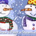 How to draw and paint a three-quarter view snowman