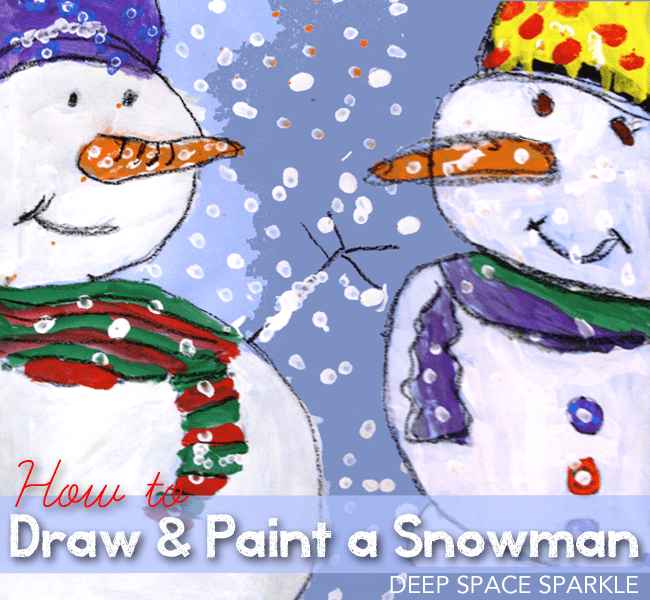 Adorable Close-up Snowman Painting