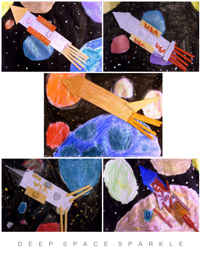 Rocket and Space Art Lesson Gallery