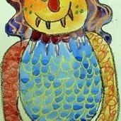 Monster Watercolor Drawings and Paintings