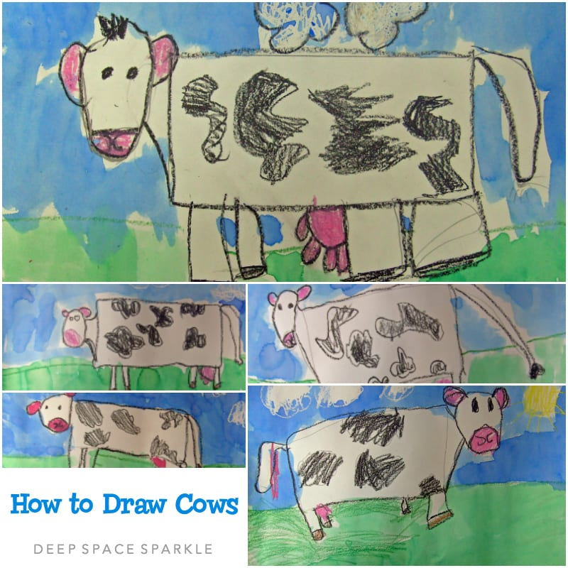 How to Draw Cows Art Lesson Gallery