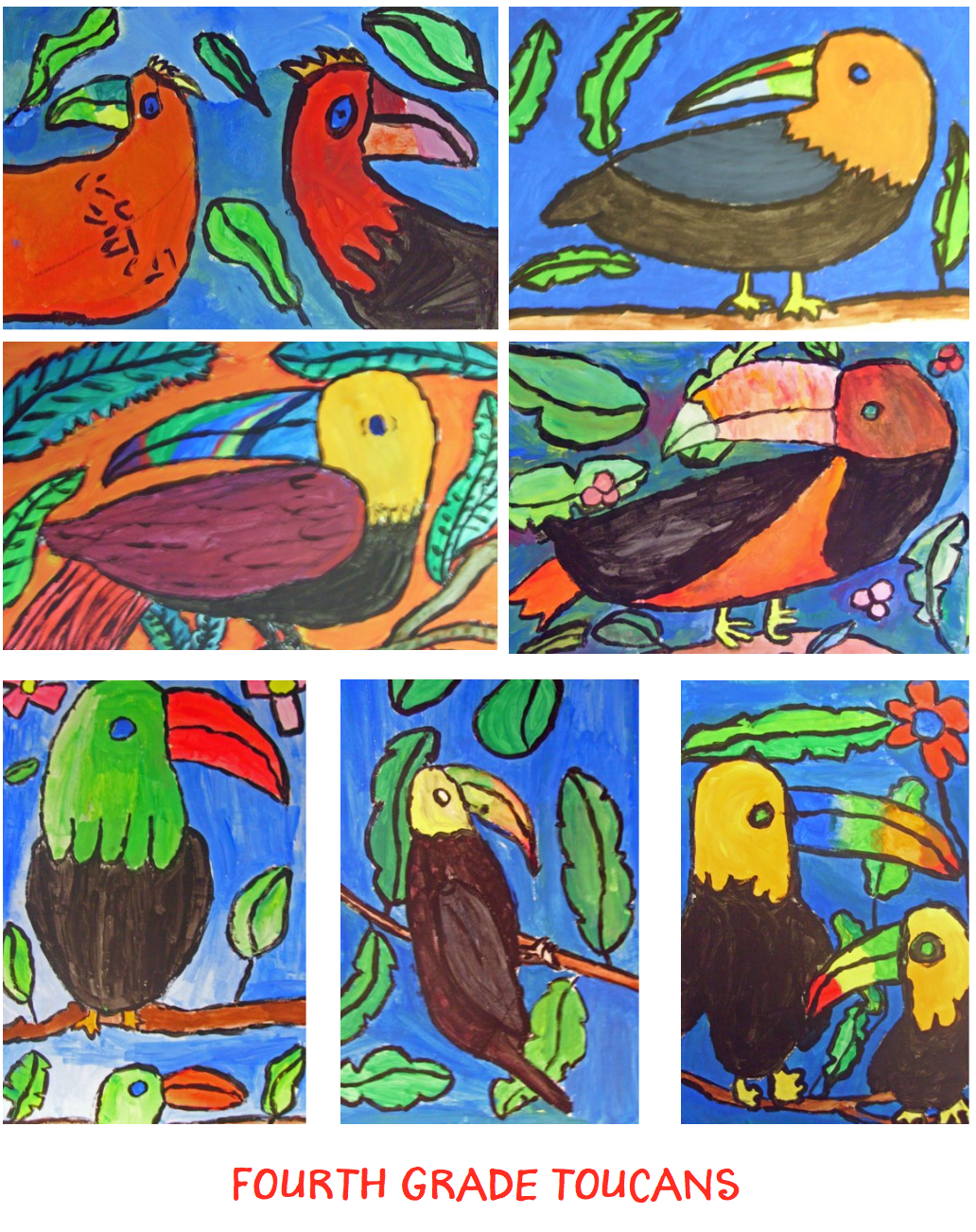Toucan Art Lesson for Kids