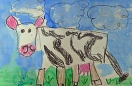 How to Draw a Cow art Lesson