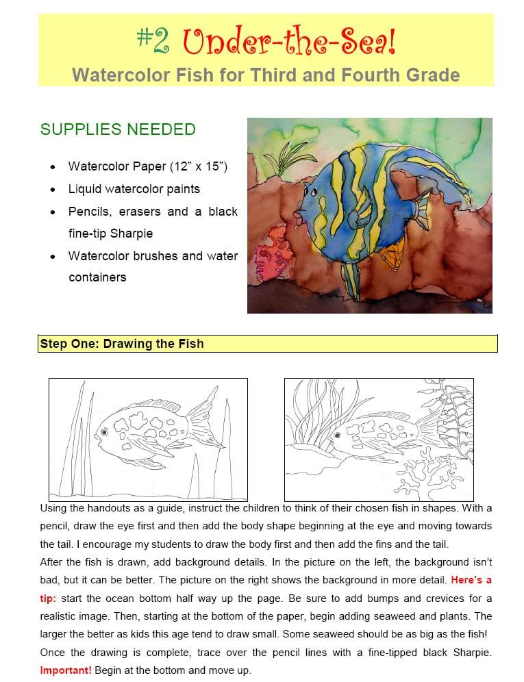 Line Design Art Lesson Plan : Watercolor projects art lesson plans deep space sparkle