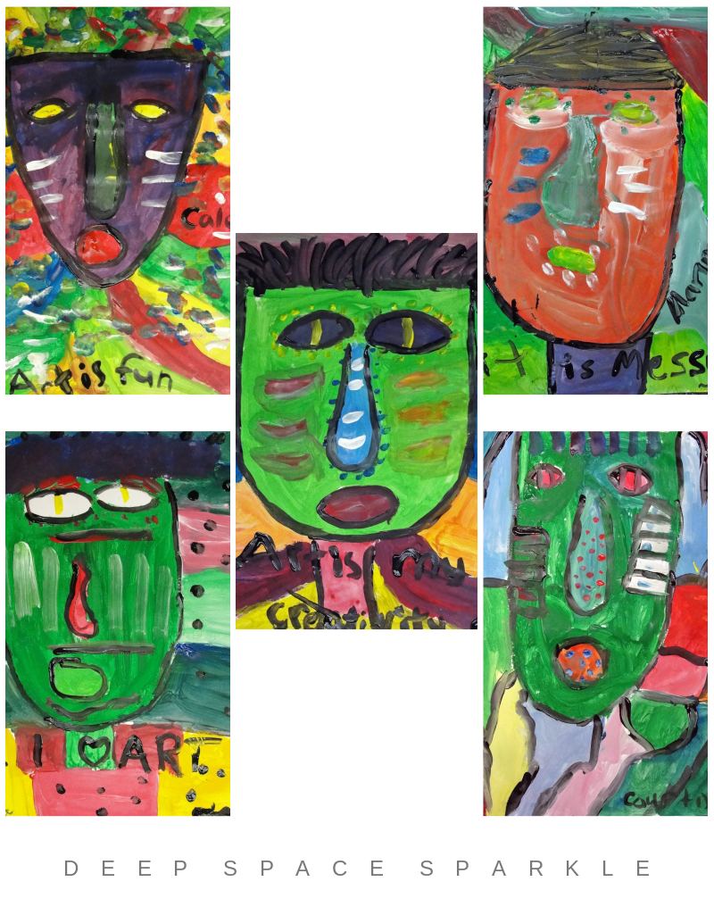 Fred Babb Expressive Faces Art Lesson Gallery