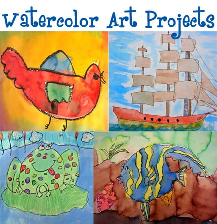 Watercolor projects art lesson plans deep space sparkle for Watercolor painting and projects