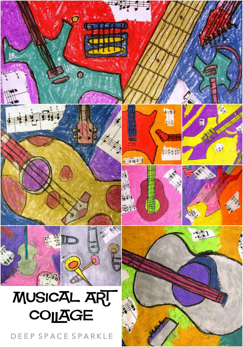 Musical Art Collage Lesson Gallery
