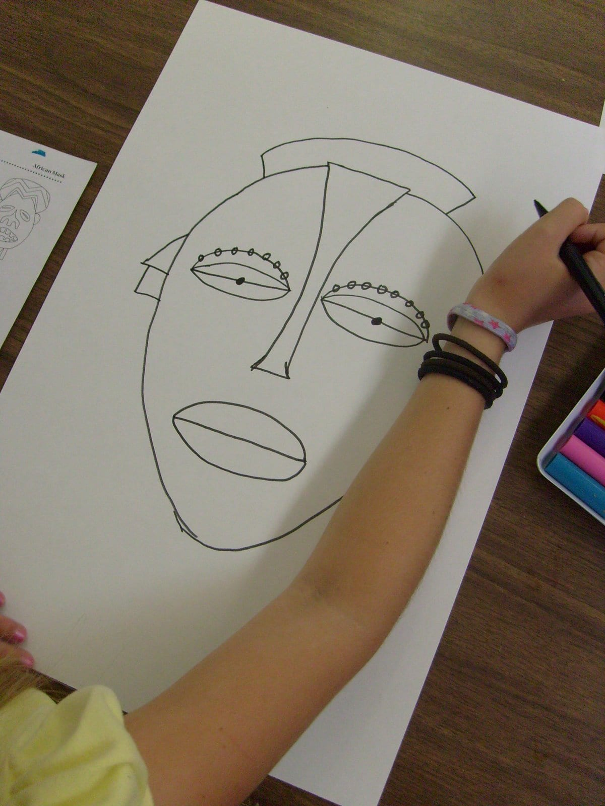 Drawing the Tribal Masks