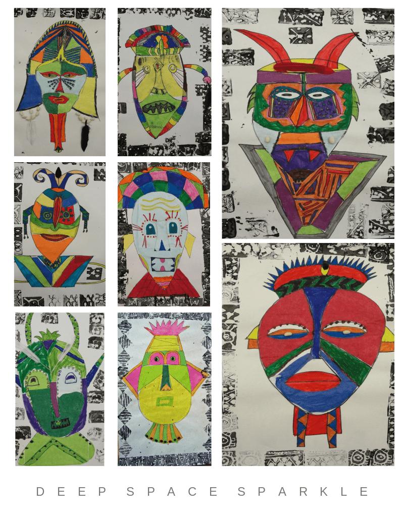 Tribal Masks Art Lesson Gallery