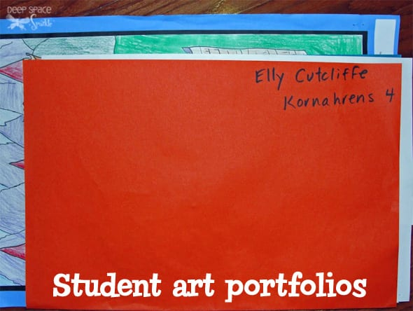 How to organize and manage student art. Art Organization tips from Deep Space Sparkle
