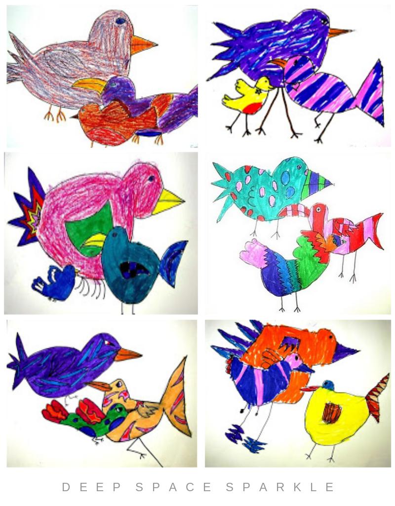 Bird Art Lesson Gallery