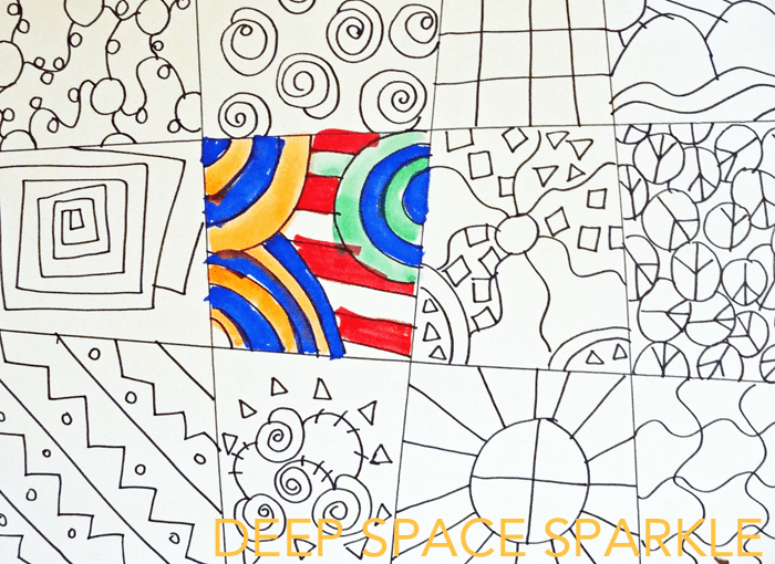 Line Design Art Lesson : The gallery for gt simple zentangle patterns step by