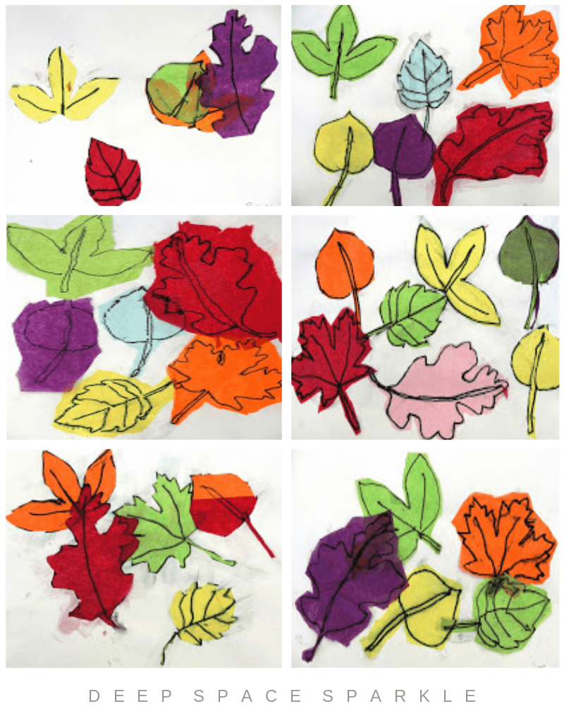 Tissue Paper Leaf Art Lesson Gallery
