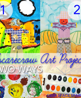 First Grade Scarecrows…two ways!