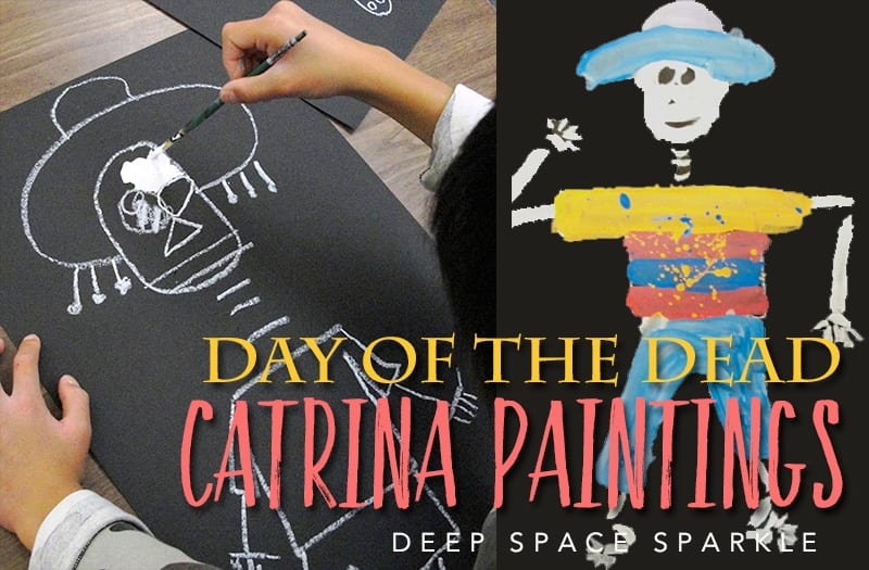 Draw a paint a simple skeleton for Day of the Dead
