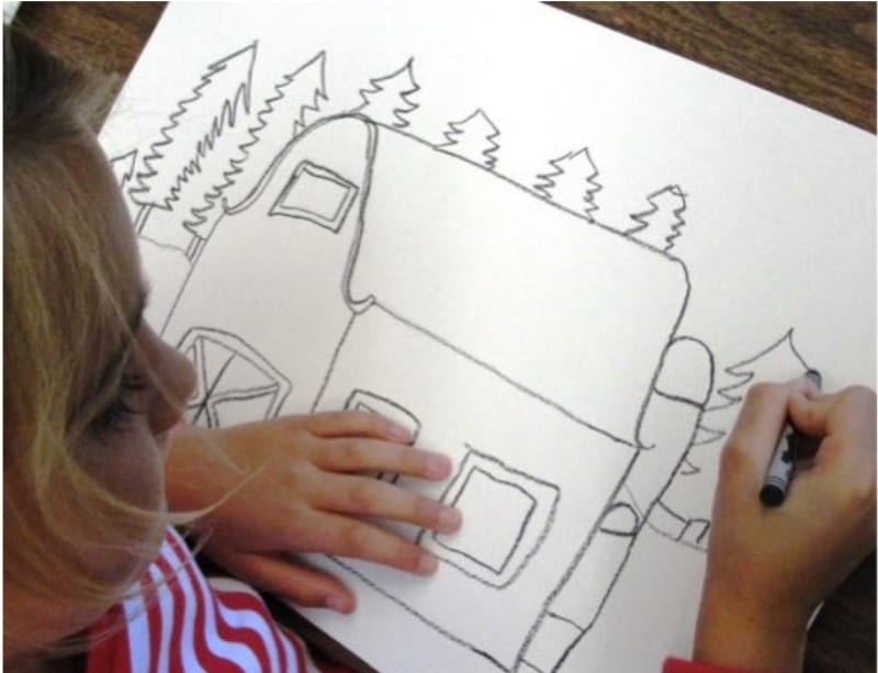 Drawing the barn lesson