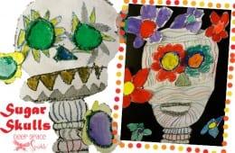 Dia de Los Muertos First Grade Sugar Skulls