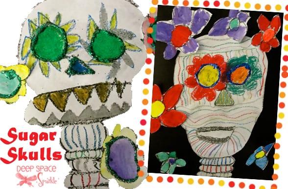 Sugar-skulls-art-lesson