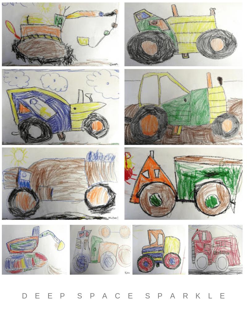 Trucks and Tractors Kindergarten Shape