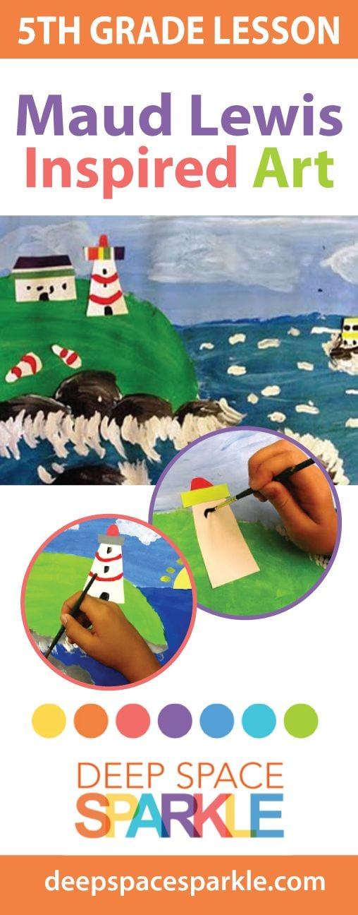 Maude Lewis lighthouse art project for Kids