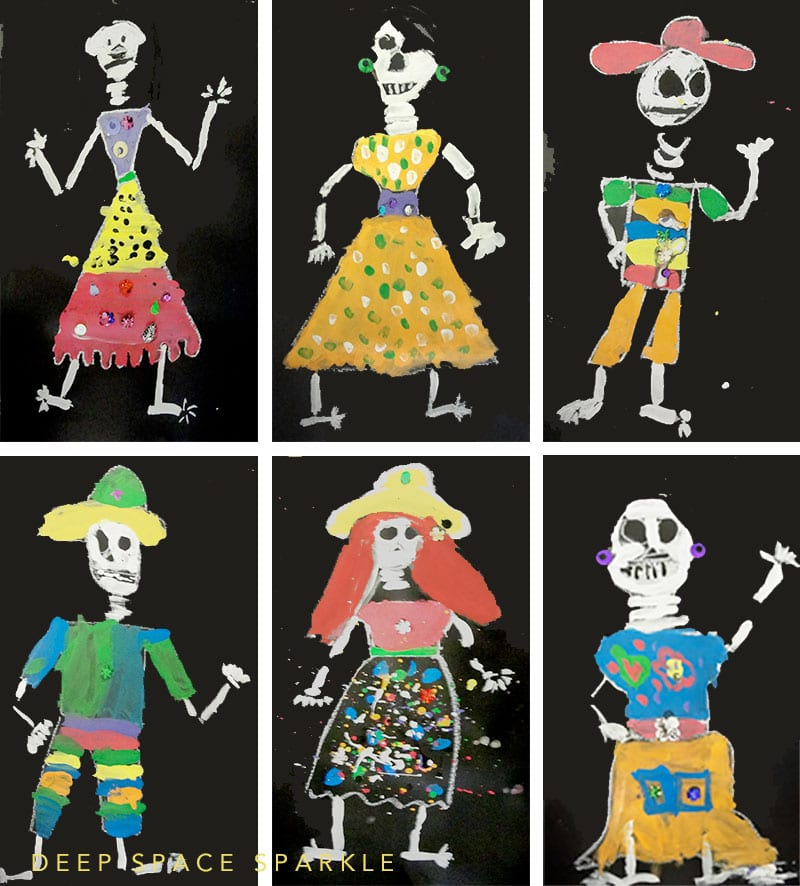 Draw and paint a simple skeleton for your next Day of the Dead celebration