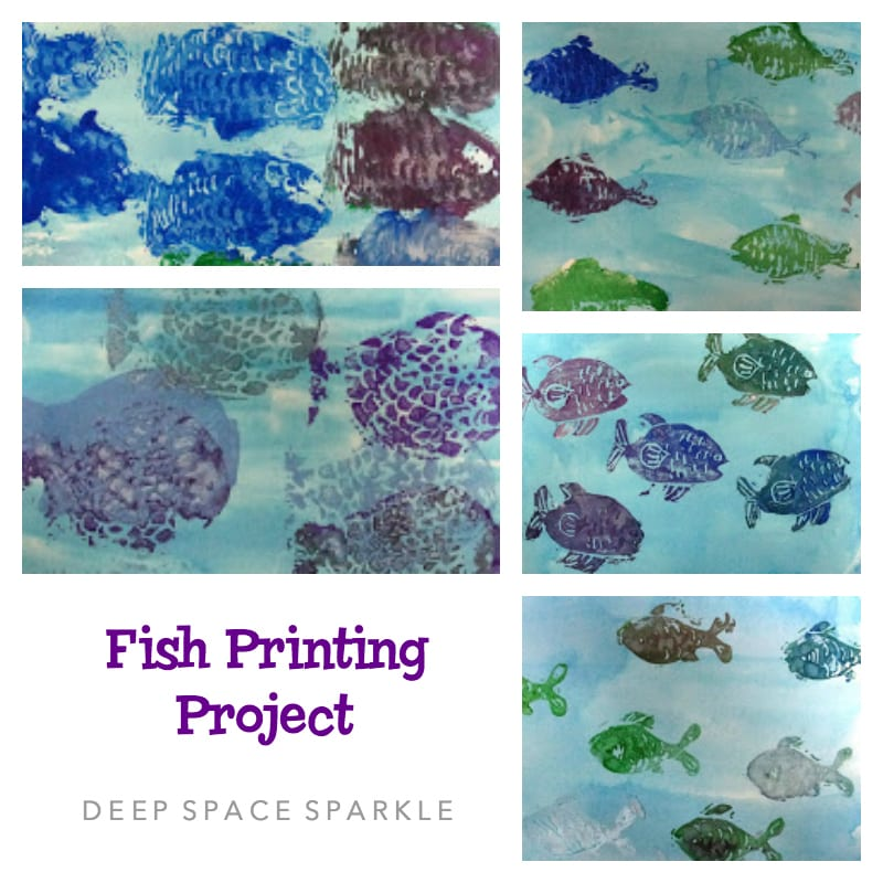 Fish Printing Project Art Lesson Gallery