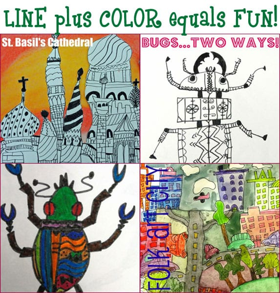 Line Drawing Lessons : Color art lesson plans