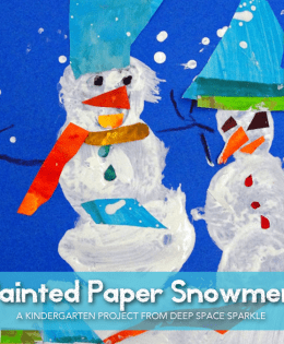 Eric Carle inspired Snowman Art Lesson