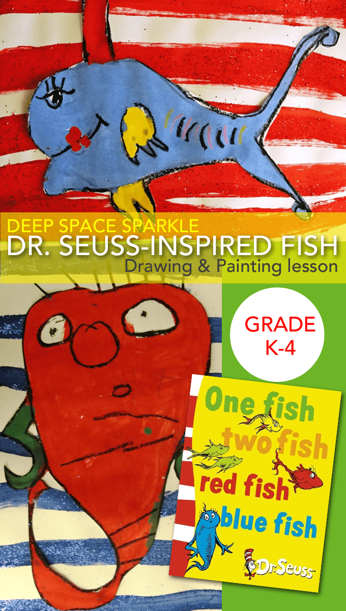 A fun drawing and painting Dr. Seuss day art project to do with your kids