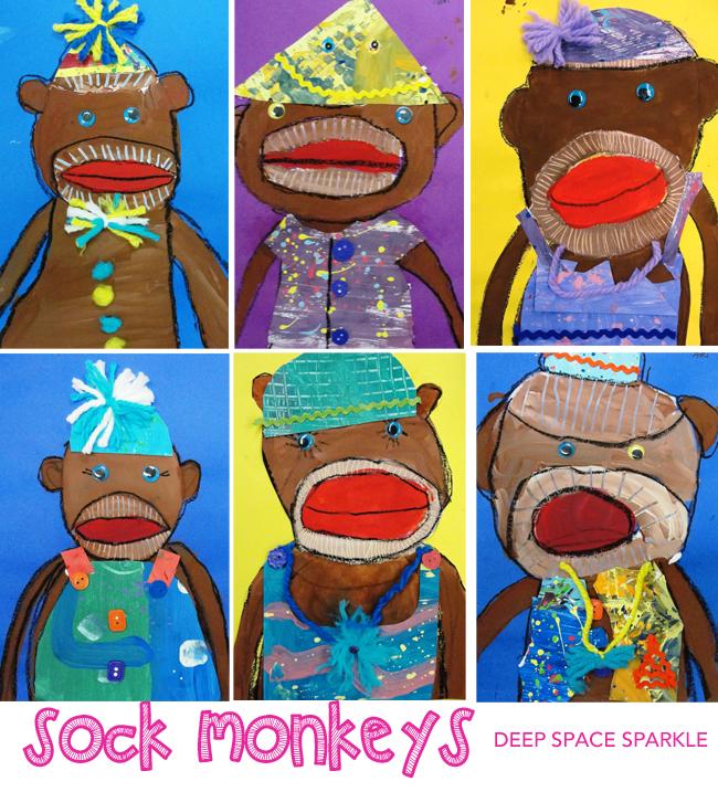 Sock Monkey Art Lesson
