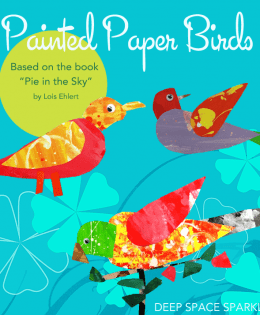 Painted Paper Bird Art Project