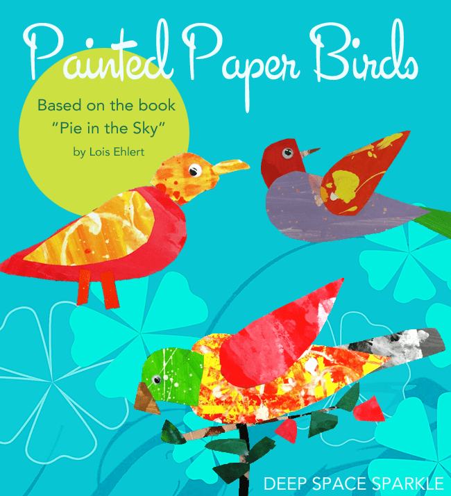 Spring Art Project:Painted Paper Birds